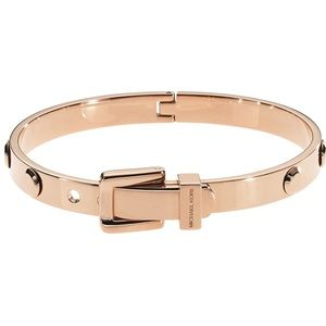 Michael Kors Astor Buckle Bangle Rose Gold